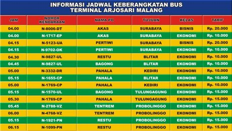 software jadwal bus