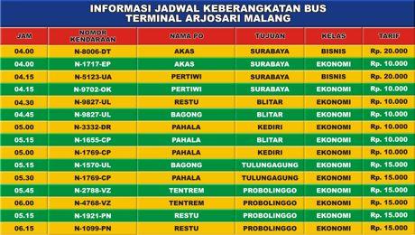 software jadwal bus
