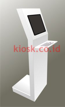 Kiosk with metal keyboard Kiosk Keyboard Metal