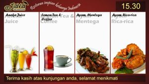 Restoran Java 2 Software Menu Restoran