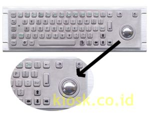 kiosk keyboard metal