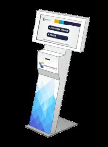 kiosk touchscreen minimalis